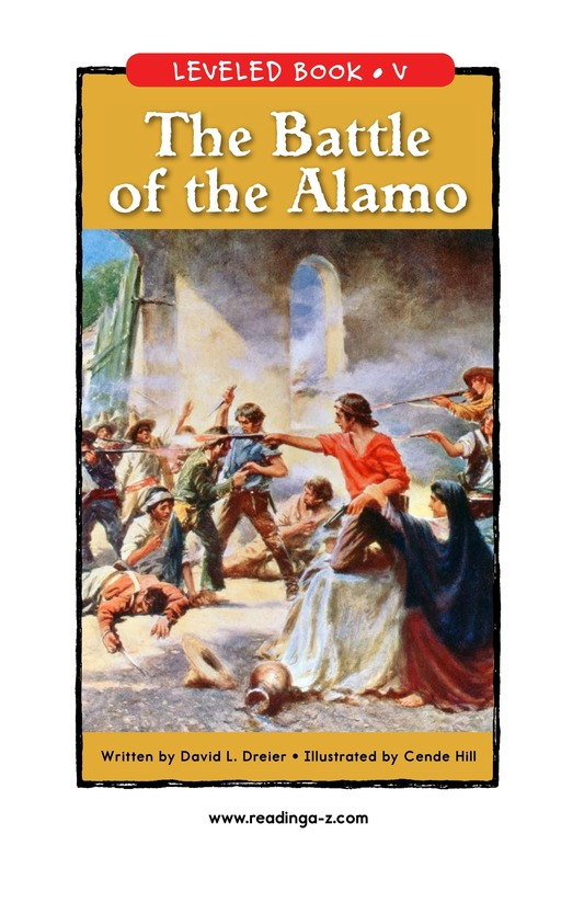 Book Preview For The Battle of the Alamo Page 1
