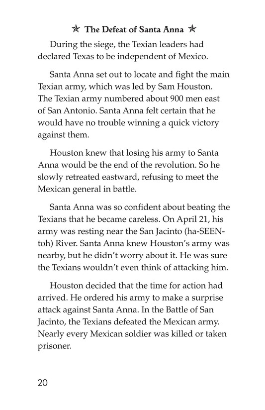 Book Preview For The Battle of the Alamo Page 20