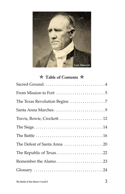 Book Preview For The Battle of the Alamo Page 3