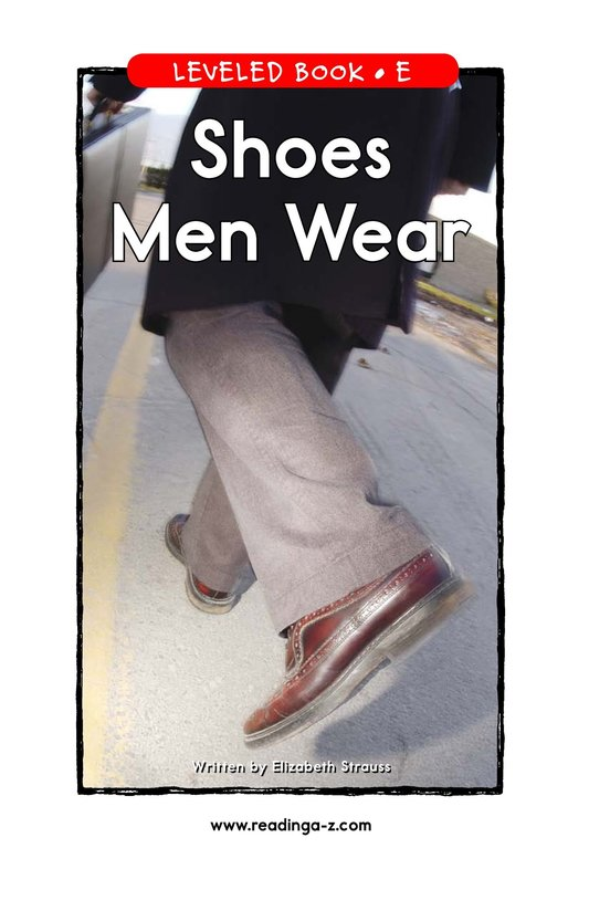 Book Preview For Shoes Men Wear Page 1