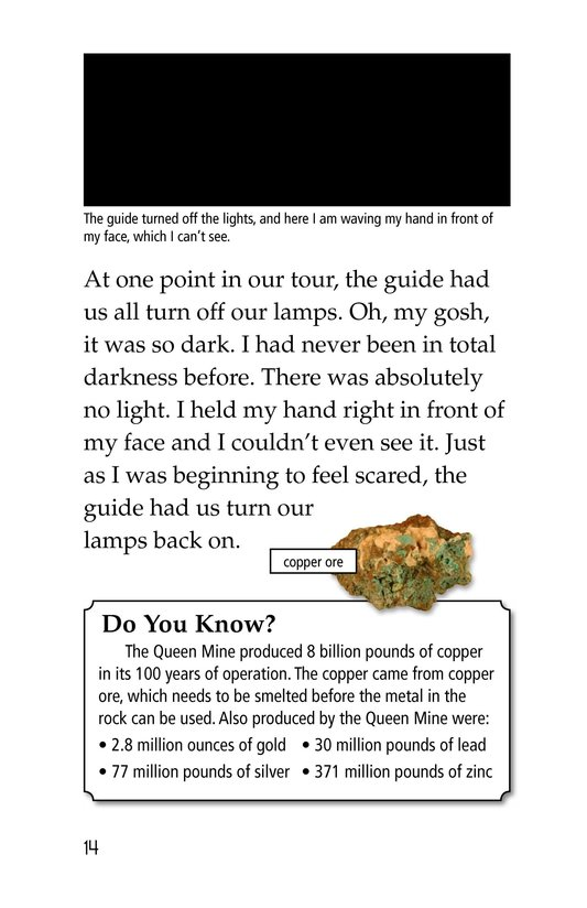 Book Preview For Deep Inside a Copper Mine Page 14