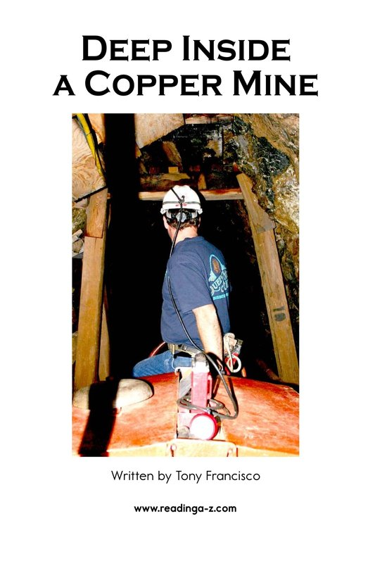 Book Preview For Deep Inside a Copper Mine Page 2