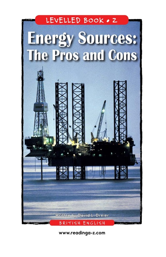 Book Preview For Energy Sources: The Pros and Cons Page 1