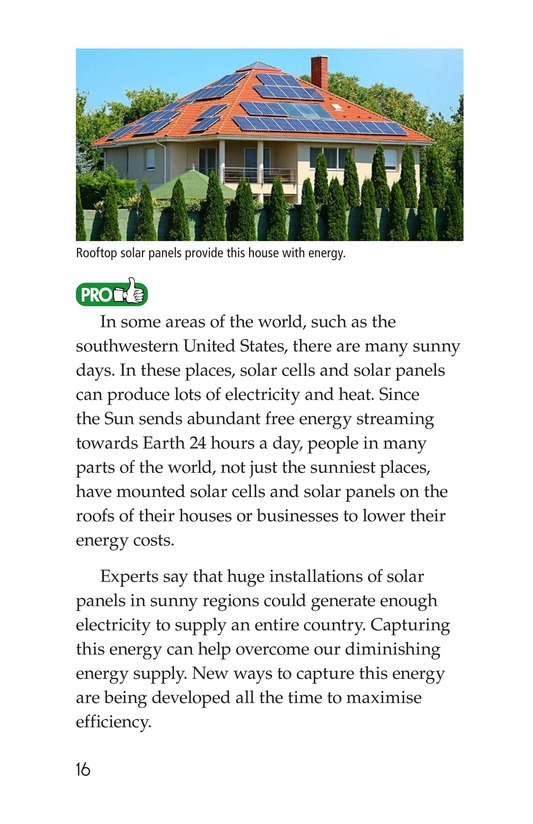 Book Preview For Energy Sources: The Pros and Cons Page 16