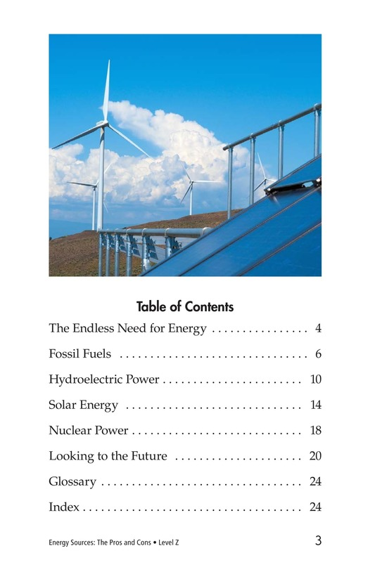 Book Preview For Energy Sources: The Pros and Cons Page 3