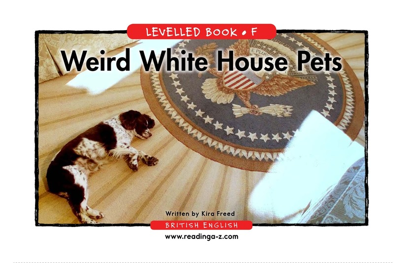 Book Preview For Weird White House Pets Page 1