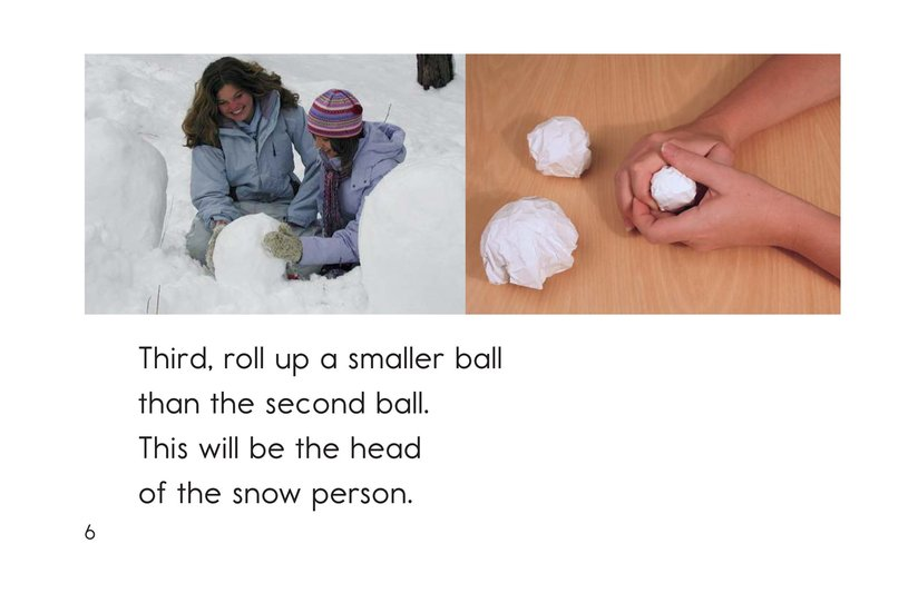 Book Preview For How to Make a Snow Person Page 6