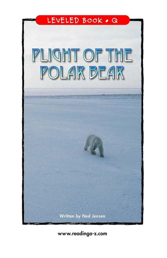 Book Preview For Plight of the Polar Bear Page 1