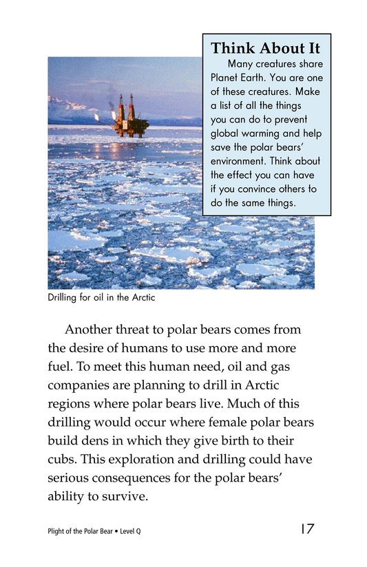 Book Preview For Plight of the Polar Bear Page 17