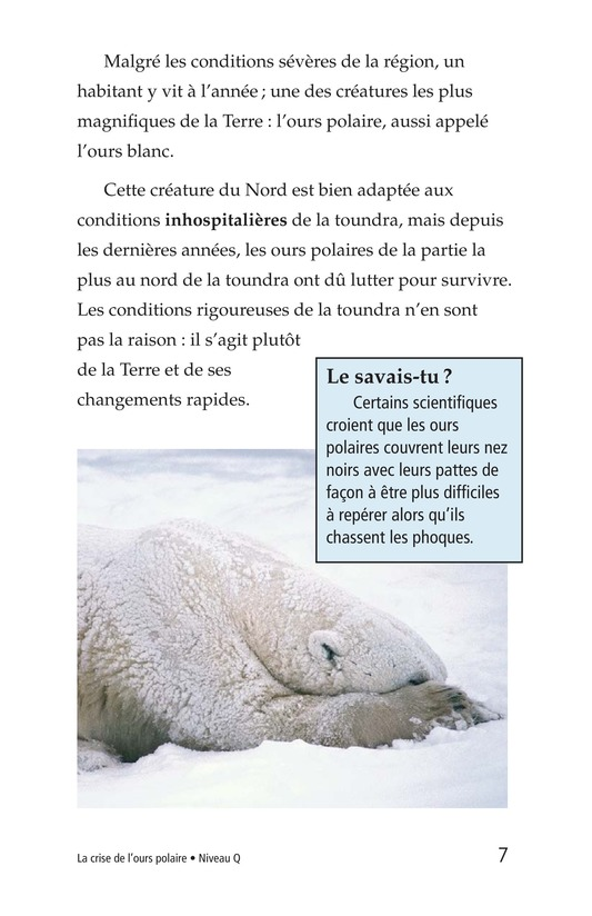 Book Preview For Plight of the Polar Bear Page 7