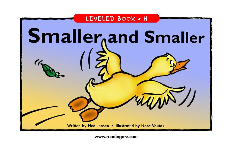 Book Preview For Smaller and Smaller Page 1