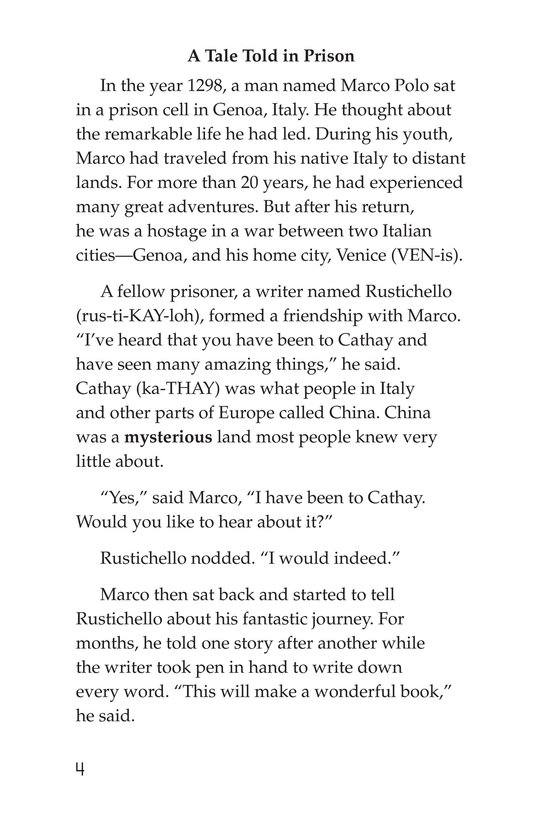 Book Preview For Marco Polo and the Silk Road Page 4