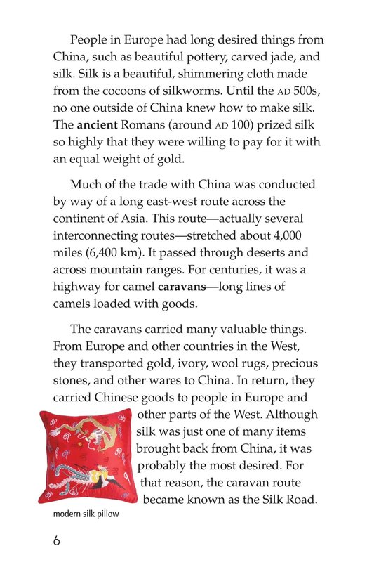 Book Preview For Marco Polo and the Silk Road Page 6