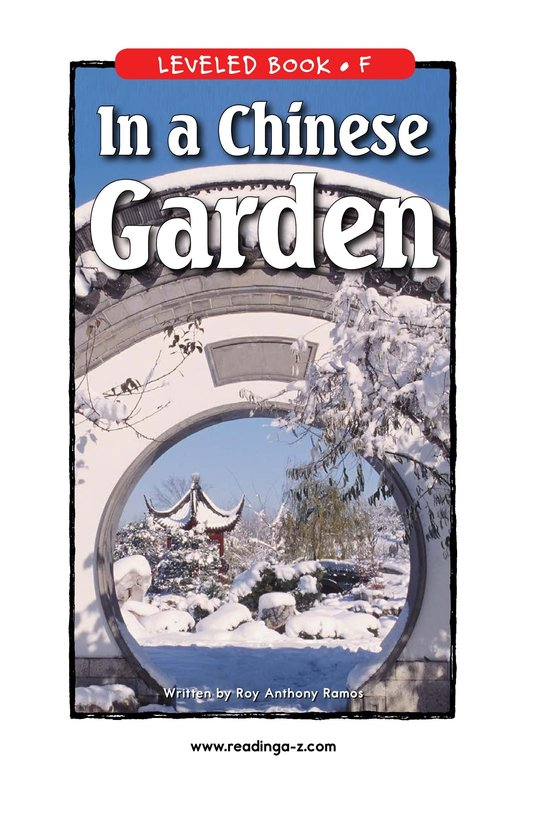 Book Preview For In a Chinese Garden Page 1