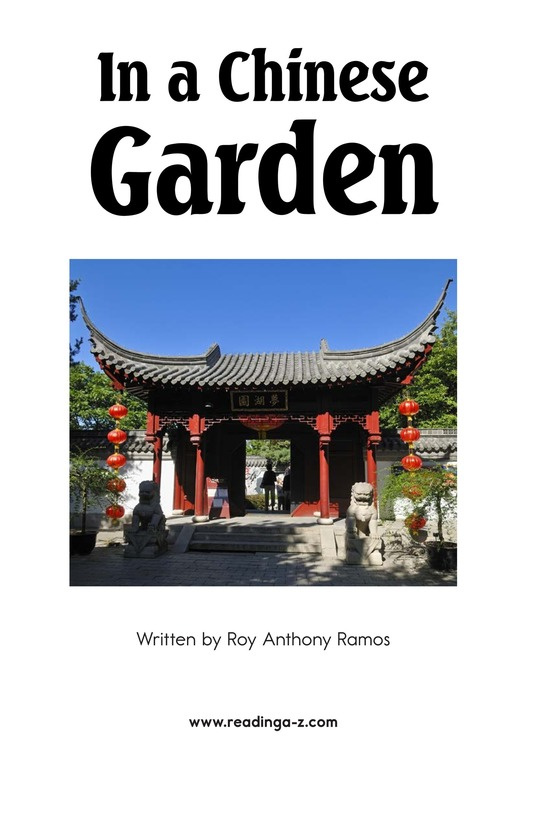 Book Preview For In a Chinese Garden Page 2